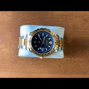 Versace Hellenyium GMT Blue Face Watch 42mm